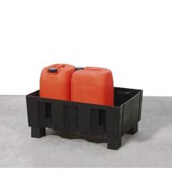Auffangwanne PolySafe Euro F-60 aus PE, mit Sockelfüßen, ohne Gitterrost, für 2 Fässer à 60 l kaufen