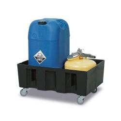 Fahrbare Auffangwanne PolySafe Euro R-60 aus PE, direktes Einstellen, für 1 Fass à 60 l kaufen