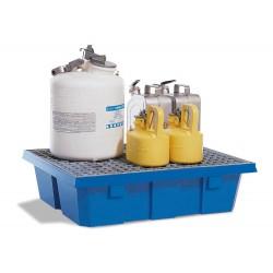 Auffangwanne PolySafe PSW 6.2 aus Polyethylen, mit verzinktem Gitterrost, für 2 Fässer à 60 l kaufen