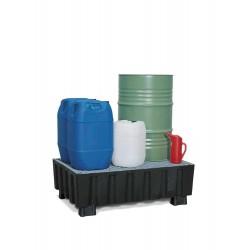 Auffangwanne PolySafe Euro aus PE, mit Sockelfüßen und verzinktem Gitterrost, für 2 Fässer à 60 l kaufen