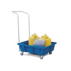 Fahrbare Auffangwanne PolySafe FSR 6.2 aus Polyethylen, direktes Einstellen, für 1 Fass à 60 l kaufen