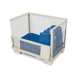 Euro-Gitterbox mit PE-Gitterboxwanne GW-Z zur Lagerung von Gefahrstoffen, 130 Liter Auffangvolumen kaufen