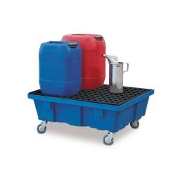 Fahrbare Auffangwanne PolySafe FSR 6.2 aus Polyethylen (PE) mit PE-Gitterrost, für 1 Fass à 60 l kaufen