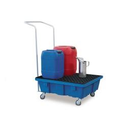Fahrbare Auffangwanne PolySafe FSR 6.2 aus Polyethylen (PE) mit verz. Gitterrost, für 1 Fass à 60 l kaufen