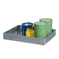 Kleingebindewanne KBE 9050 aus Edelstahl, 40 Liter Auffangvolumen