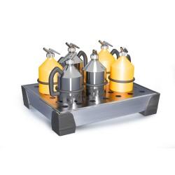 Kleingebindewanne WP 15, Edelstahl, mit Edelstahl-Lochblech, Auffangvolumen 15 Liter kaufen