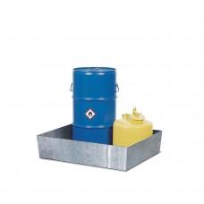 Auffangwanne Basis K aus Stahl, verzinkt, ohne Gitterrost, für 1 Fass à 60 Liter