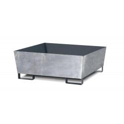 Auffangwanne Basis C V50 aus Stahl, verzinkt, m. Gabeltaschen, ohne Gitterrost, für 2 Fässer à 200 l kaufen