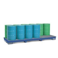 Auffangwanne Basis BC12, Stahl, lackiert, mit Gabeltaschen und Gitterrost, für 12 Fässer à 200 Liter kaufen