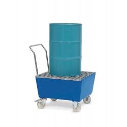 Fahrbare Auffangwanne FSR1 aus Stahl, lackiert, mit Gitterrost, für 1 Fass à 200 Liter kaufen