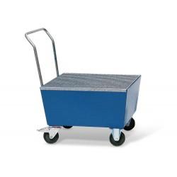 Fahrbare Auffangwanne FSR1 aus Stahl, lack., mit Gitterrost, für 1 Fass à 200 l, elektr. leitfähig kaufen
