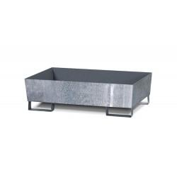 Auffangwanne Basis E aus Stahl, verzinkt, mit Gabeltaschen, ohne Gitterrost, für 1 Fass à 200 Liter kaufen