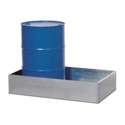 Auffangwanne W 1 aus Stahl, vz, 205 Liter Auffangvolumen, für Kleingebinde und ein 200-Liter-Fass kaufen