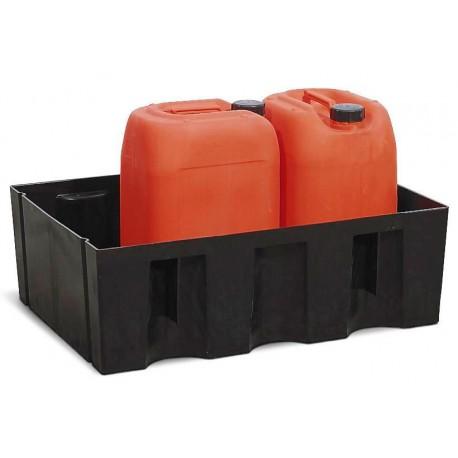 Auffangwanne PolySafe Euro W-60 aus PE, ohne Gitterrost, für 1 Fass à 60 Liter
