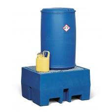 Auffangwanne PolySafe ECO aus Polyethylen (PE), mit verzinktem Gitterrost, für 1 Fass à 200 Liter