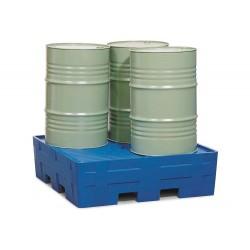 Auffangwanne PolyCompact PC4 aus Polyethylen (PE), integrierte Stellfläche, für 4 Fässer à 200 Liter kaufen