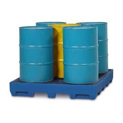 Auffangwanne PolySafe Station PSS 2.4 aus Polyethylen (PE), PE-Gitterrost, für 5 Fässer à 200 l kaufen