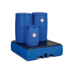 Auffangwanne PolySafe ECO aus Polyethylen (PE), mit PE-Gitterrost, für 4 Fässer à 200 Liter kaufen