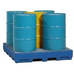 Auffangwanne PolySafe Station PSS 2.4 aus Polyethylen, verzinkter Gitterrost, für 5 Fässer à 200 l kaufen