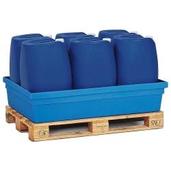 Auffangwanne PolySafe PSW 2.2 aus Polyethylen, blau, ohne Gitterrost, für 1 Fass à 200 Liter kaufen