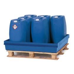 Auffangwanne PolySafe PSW 2.4 aus Polyethylen, blau, ohne Gitterrost, für 2 Fässer à 200 Liter kaufen
