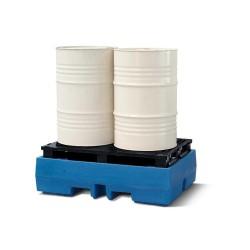 Auffangwanne PolySafe ECO aus Polyethylen (PE), mit PE-Palette, für 2 Fässer à 200 Liter kaufen