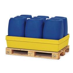 Auffangwanne PolySafe PSW 2.2 aus Polyethylen, gelb, ohne Gitterrost, für 1 Fass à 200 Liter kaufen