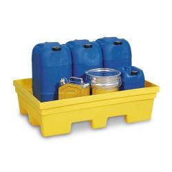 Auffangwanne PolySafe PSP 2.2 aus PE, gelb, Gabeltaschen, ohne Gitterrost, für 1 Fass à 200 Liter kaufen