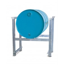 Stapelregal ARL 1 aus Stahl, verzinkt, für 1 Fass à 200 Liter, mit Auflageschienen