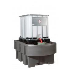 IBC-Station EURO-1R aus Polyethylen (PE) mit Abfüllbereich, zum direkten Abstellen von 1 IBC