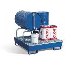 Abfüllstation AS-B aus Stahl, lackiert, mit verzinktem Fassbock für 1 Fass à 60 oder 200 Liter