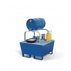 Abfüllstation AS-B aus Stahl, lackiert, mit verz. Fassbock, für 1 Fass à 60 Liter, 200 L Auffangvol.