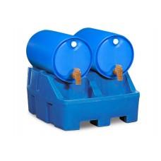 Abfüllstation PolySafe RS, Polyethylen (PE), blau, für 2 Fässer à 200 Liter