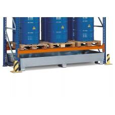 Regalwanne PRW 65 aus Stahl, verzinkt, mit Gabeltaschen, für Regale mit Fachbreite 2700 mm