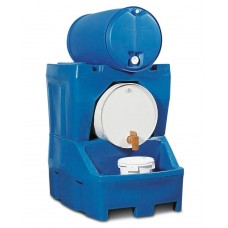 Abfüllstation Typ RS aus Polyethylen (PE), inkl. Fassbock aus PE, für 2 Fässer à 200 Liter