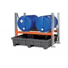 Regalwanne Typ RWP 14.3 aus Polyethylen (PE), für Regale mit Fachbreite 1400 mm