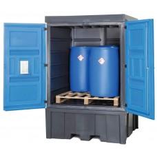 PolySafe-Depot Typ C für 4 Fässer à 200 Liter oder 1 IBC à 1000 Liter, aus Kunststoff