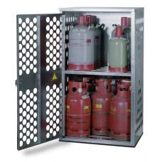 Flüssiggasflaschenschrank FGF 801, für 4 x 33 oder 10 x 11 kg Flaschen, 1-flg. Tür. Linksanschlag