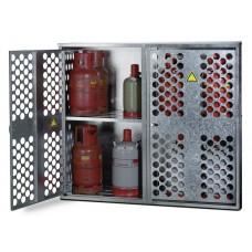 Flüssiggasflaschenschrank FGF 1602, für 9 x 33 oder 20 x 11 kg Flaschen, 2-flügelige Tür