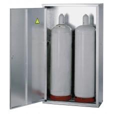Flüssiggasflaschenschrank ST 23, für 2 x 33 kg Flasche, mit geschlossener Wand und 1-flügeliger Tür