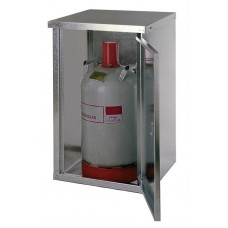 Flüssiggasflaschenschrank ST 10, für 1 x 11 kg Flasche, mit geschlossener Wand und 1-flügeliger Tür