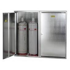 Flüssiggasflaschenschrank ST 40, für 4 x 33 kg Flasche, mit geschlossener Wand und 2-flügeliger Tür