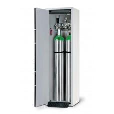 Feuerbeständiger Druckgasflaschenschrank G30.6, 600 mm breit, Türanschlag links, grau