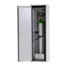 Feuerbeständiger Druckgasflaschenschrank G90.6, 600 mm breit, Türanschlag rechts, grau