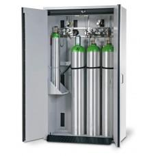 Feuerbeständiger Druckgasflaschenschrank G30.12, 1200 mm breit, 2-flügelige Tür, grau