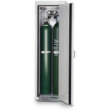 Feuerbeständiger Druckgasflaschenschrank G30.6, 600 mm breit, Türanschlag rechts, grau