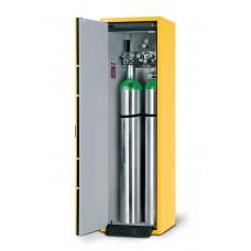 Feuerbeständiger Druckgasflaschenschrank G30.6, 600 mm breit, Türanschlag links, gelb