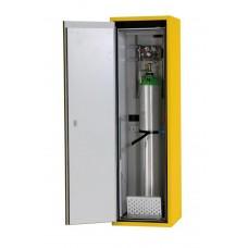 Feuerbeständiger Druckgasflaschenschrank G90.6, 600 mm breit, Türanschlag links, gelb