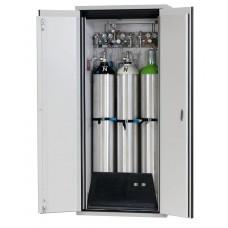 Feuerbeständiger Druckgasflaschenschrank G30.9, 900 mm breit, 2-flügelige Tür, grau