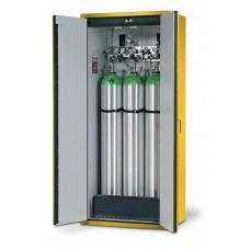 Feuerbeständiger Druckgasflaschenschrank G30.9, 900 mm breit, 2-flügelige Tür, gelb